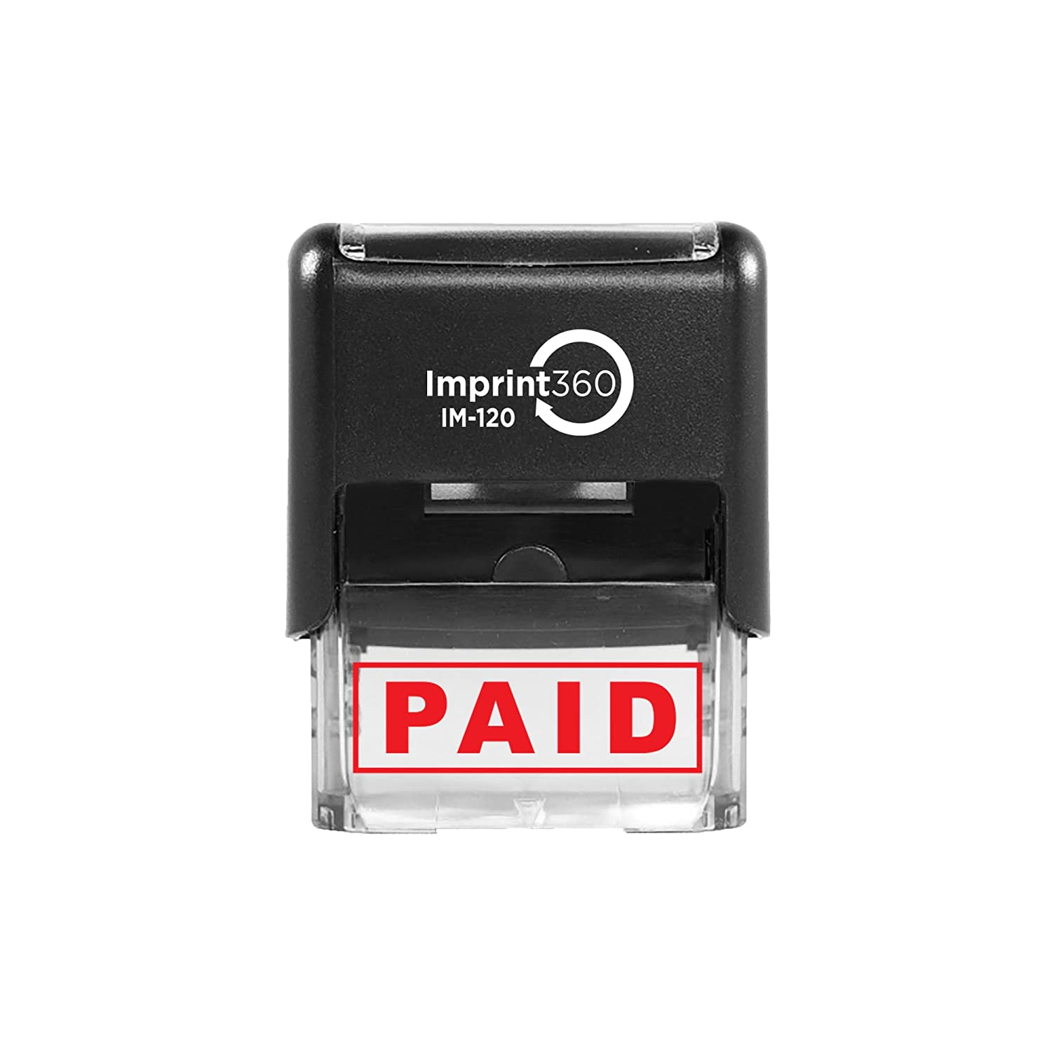 Imprint 360 AS-IMP1027 Precise Imprints Red Ink PAID Laser Engraved for Clean Heavy Duty Commerical Quality Self-Inking Rubber Stamp 9//16 x 1-1//2 Impression Size