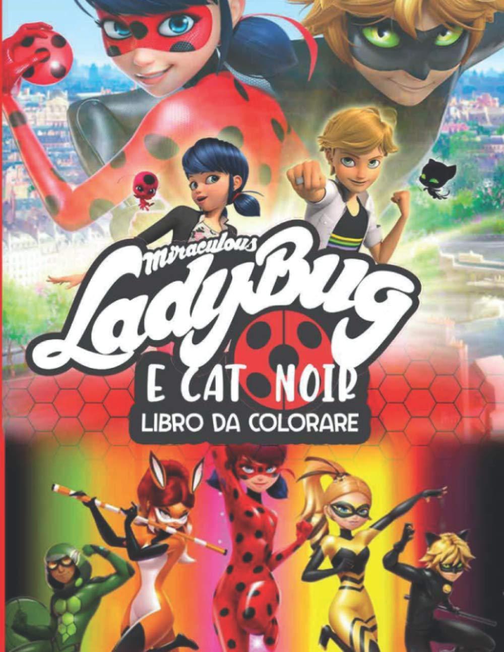 Amazon Com Miraculous Ladybug E Cat Noir Libro Da Colorare Disegni Da Colorare Di Alta Qualita Per Bambini 3 5 Italian Edition 9798690354770 Publishing Joybook Books