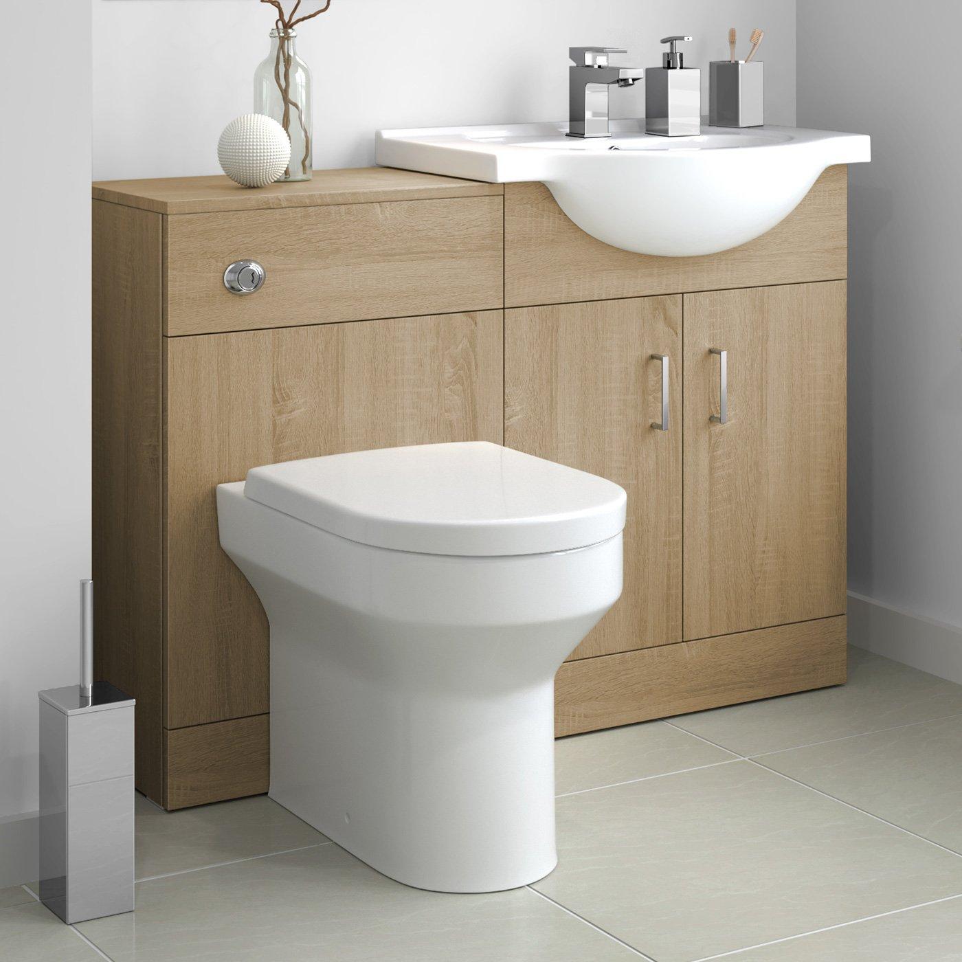 1000mm Gloss White Hudson Reed Cbi142 Fusion Modern Bathroom
