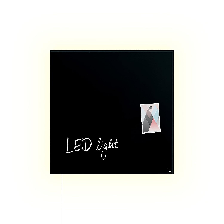 Sigel GL450 48 x 48 cm pizarra LED luz pizarra magnética de ...