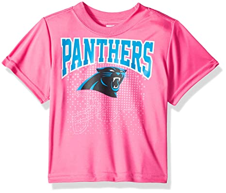 00e75ffe NFL Carolina Panthers Girls Short-Sleeve Tee, Pink, 3T