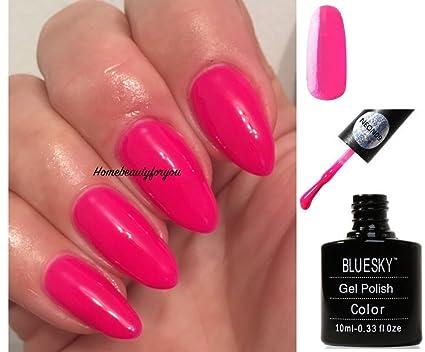 Bluesky Smalto Gel Per Unghie Neon 9 10ml Rosa Fluorosa Intenso