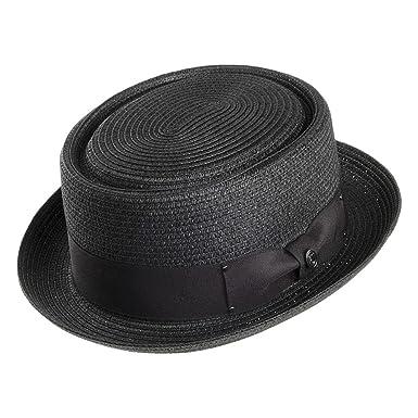 c21991a3351c4f Jaxon & James Toyo Braided Pork Pie Hat - Black: Amazon.co.uk: Clothing