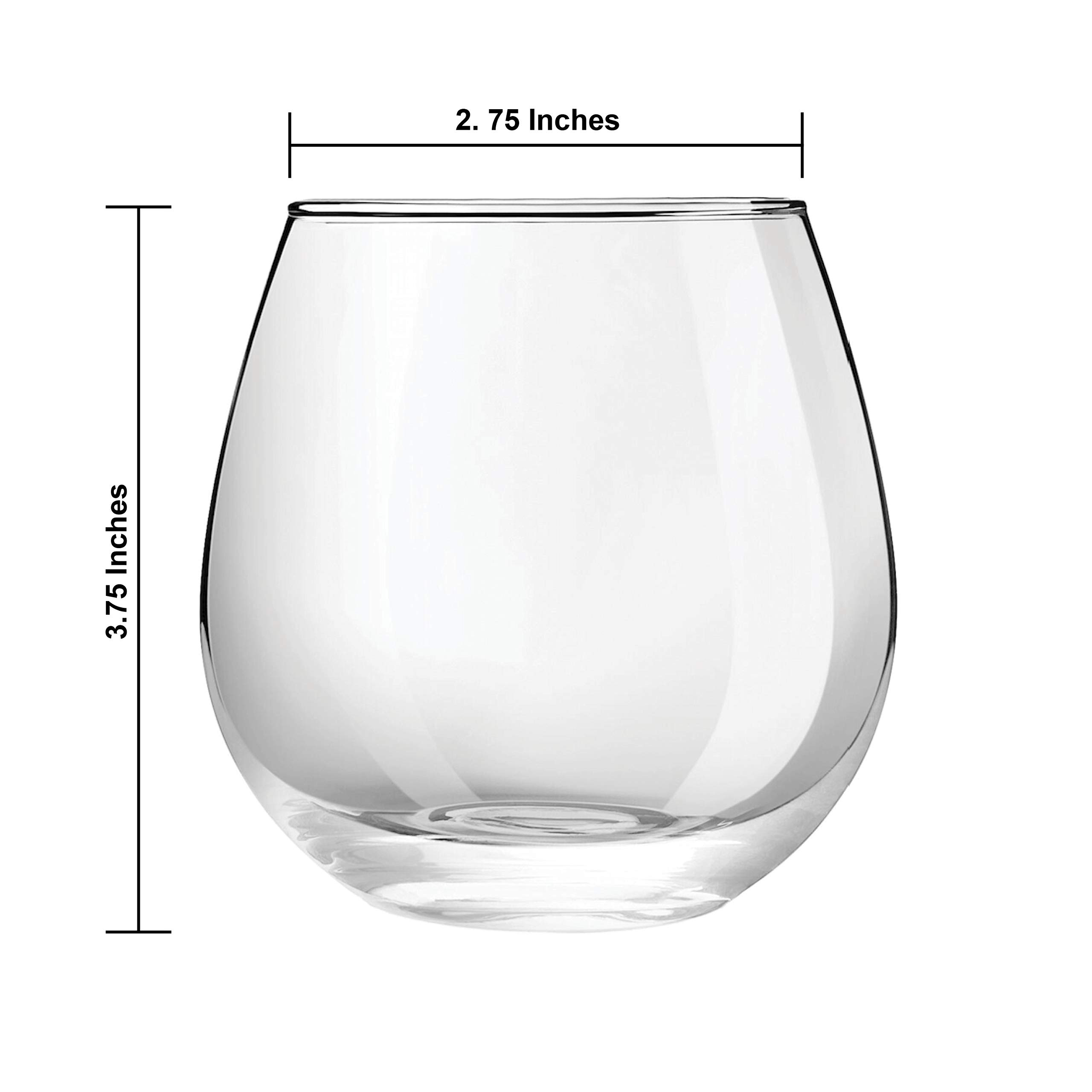 JoyJolt Spirits Stemless Wine Glasses 15 Ounce, Set of 4 Great For White Or Red Wine Mother's Day Wine Gifts Wines Glass Sets by JoyJolt (Image #2)