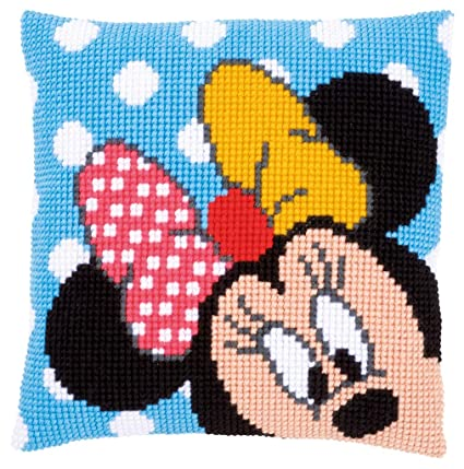 Amazon.com: Disneys Minnie Mouse Peek-a-Boo Cross Stitch ...