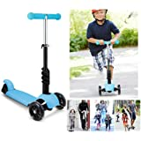 3-in-1 Toddler Kick Scooter,3 Wheel Mini Kick Scooter for Boys Girls