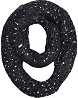 Premium Unique Winter Silver Flakes Rib Knit Soft Infinity Loop Circle Scarf