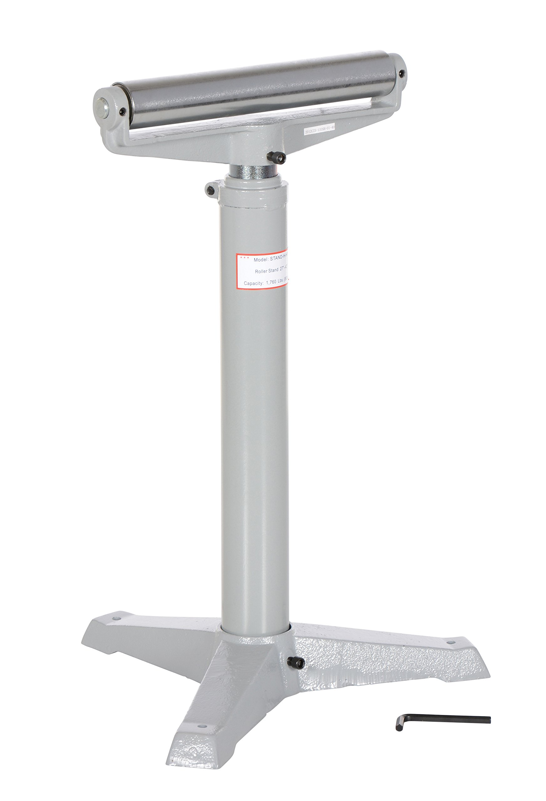 Vestil STAND-H-HP 14'' Horizontal Deluxe Roller Stand, 27'' - 42'' Height, 1760 lbs Capacity
