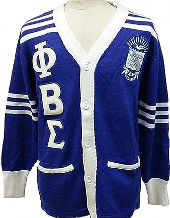Amazoncom Buffalo Dallas Phi Beta Sigma Fraternity Mens Cardigan