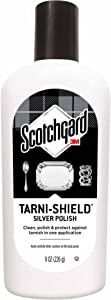 Scotchgard Tarni-Shield Silver Polish, Clean, Polish & Protect Against Tarnish in One Application, 8 Ounces
