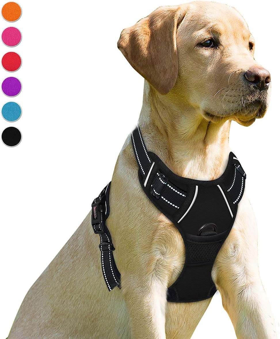 BARKBAY No Pull Dog Harness Front Clip Heavy Duty Reflective Easy Control Handle for Large Dog Walking