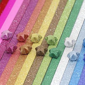 Amazon.com: Origami papeles estrellas del paquete de ...