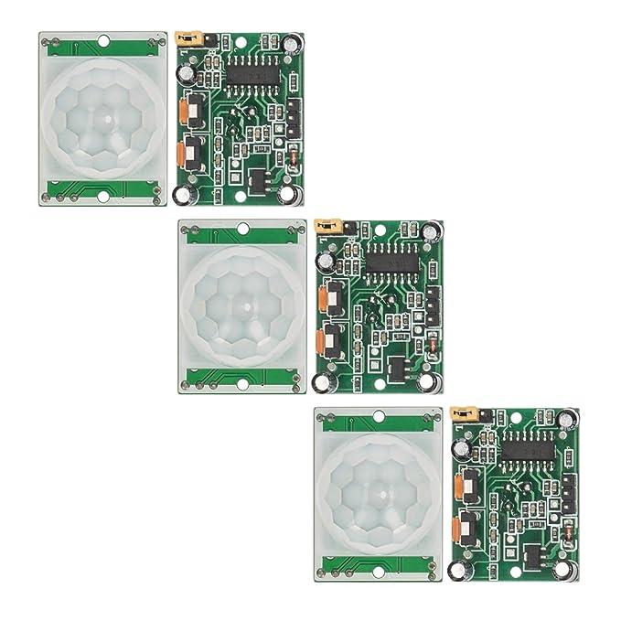 Amazon.com : kwmobile 3X PIR Motion Sensor Security- HC-SR501 Movement Detection Sensor Module for Arduino, Genuino and Raspberry Pi 3.3V Power : Camera & ...