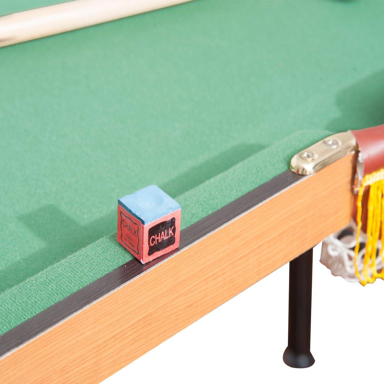 HOMCOM – Mesa de Billar con Bolas y Otros Accesorios, tamaño 1,37 ...