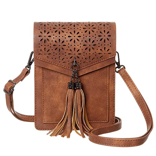 17f29e904a55 MINICAT Fringe Thicher Pocket Small Cell Phone Purse Wallet Small Crossbody  Bags For Women With Credit