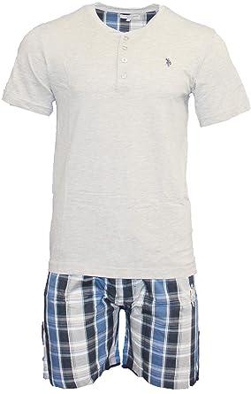 a85be0e2a4 U.S. Polo Assn. Herren Pyjama – Set bestehend aus T-Shirt und kurzer Hose