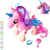 amdohai Unicorn Toys for Girls, Interactive Toy for Kids, Walking and Dancing Robot Pet, Birthday Gifts for Age 3 4 5 6 7 8 Y