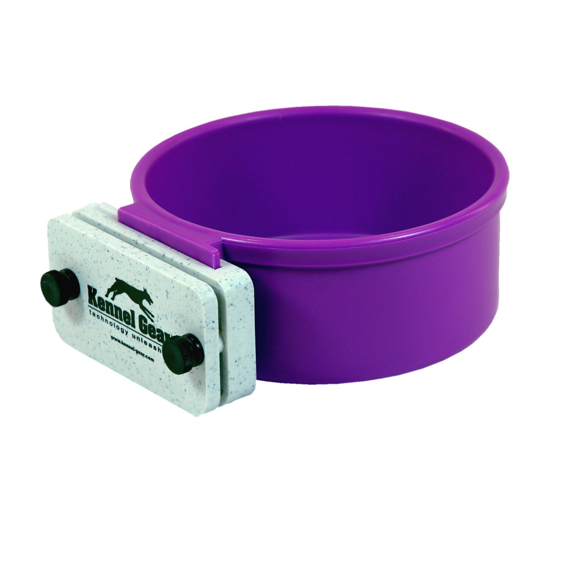 Kennel-Gear 20 oz Plastic Dog or Cat Bowl Kit, Purple by Kennel-Gear