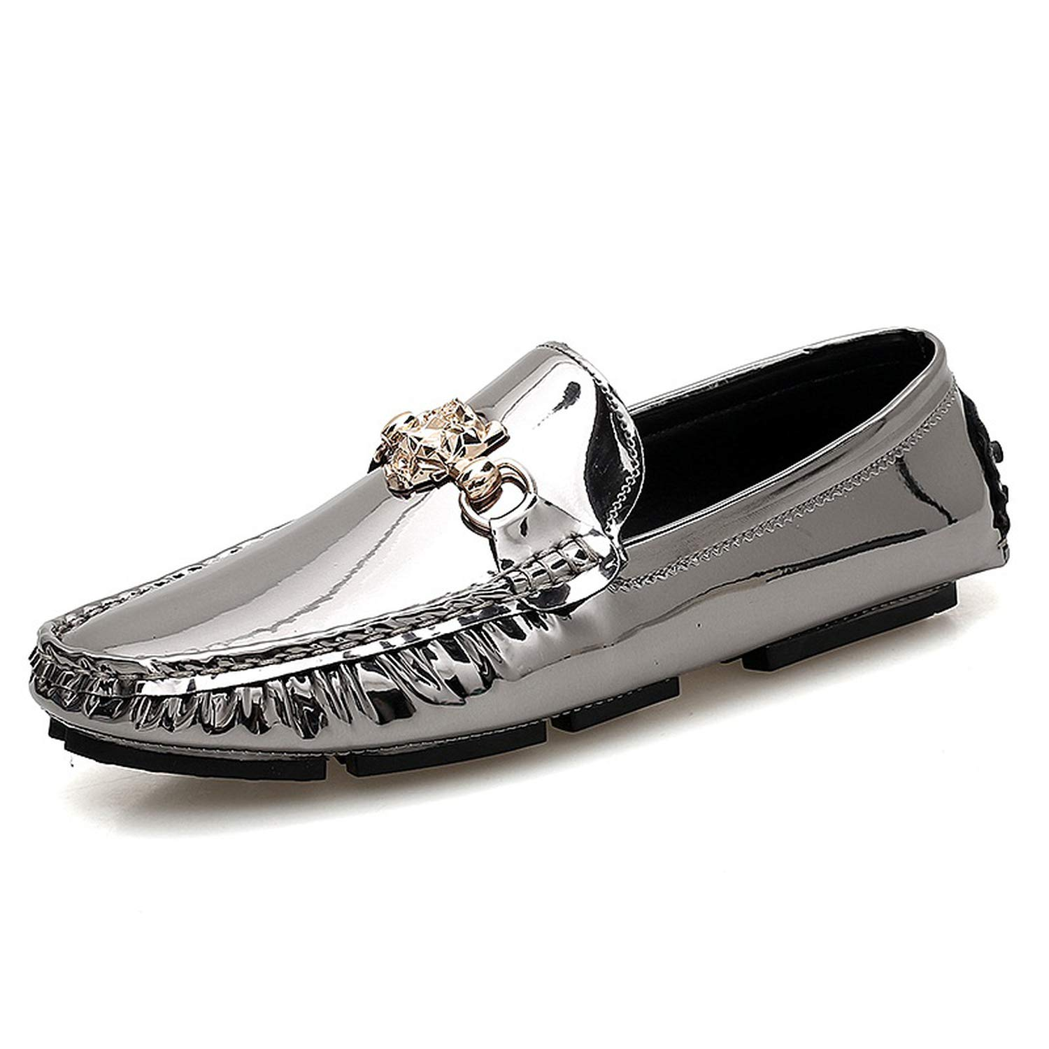 Silver Romantico Men Big Size Casual Men Driving Doug shoes Mens Loafers Slip Lazy Flats Leisure shoes Men Loafers
