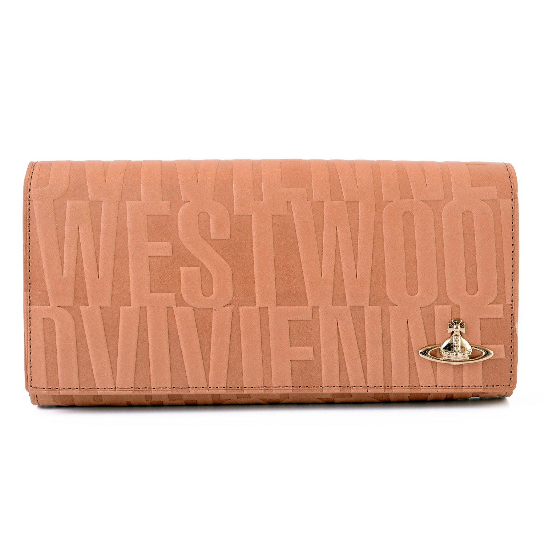 [名入れ可] (ヴィヴィアンウエストウッド) Vivienne Westwood ブライダルボックス 長財布 レザー フラップ ロング ウォレット パース B07BDFBHMX 名入れあり|ベージュ ベージュ 名入れあり