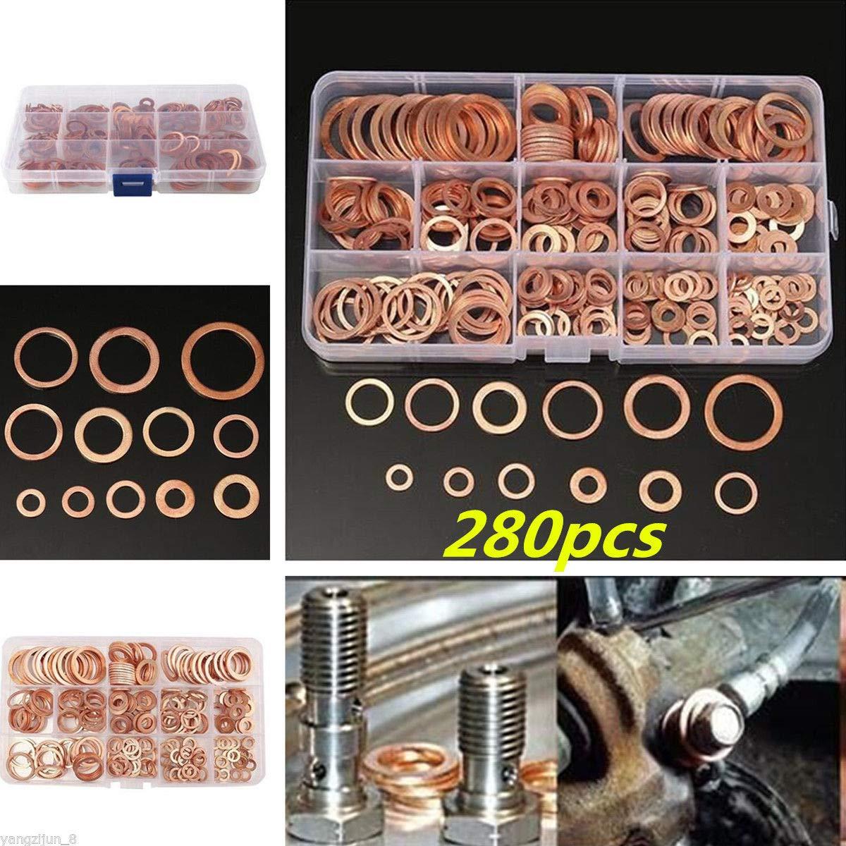 MagiDeal Rubber Grommet Assortment Wire Gasket Kit M3//M4//M5//M6//M8//M10//M12