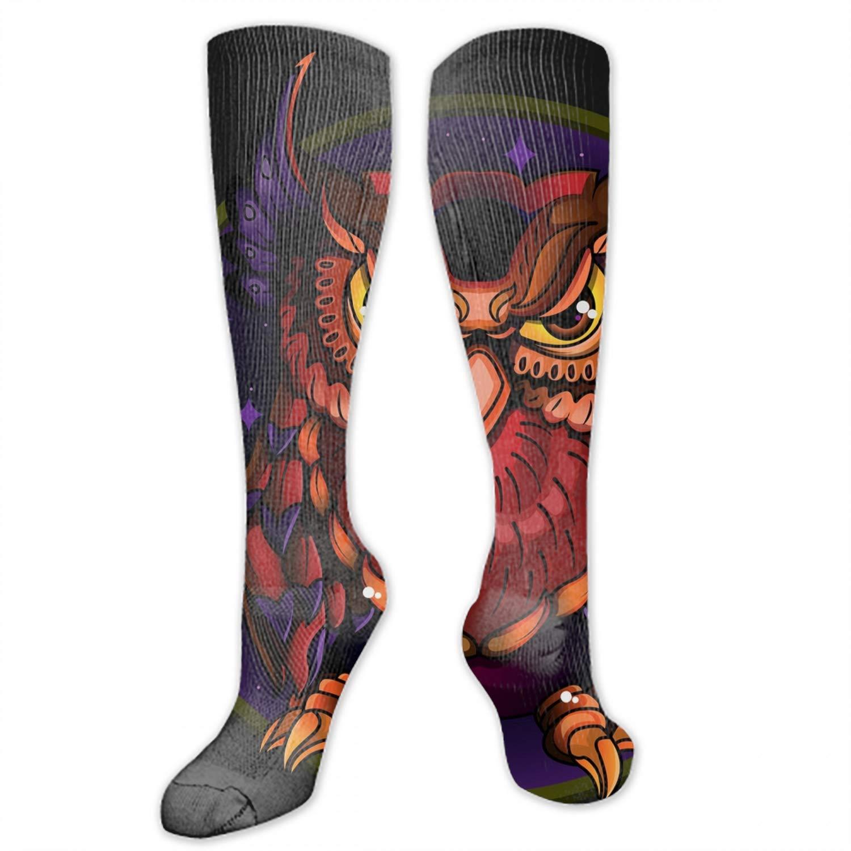 nadoab Girls Socks Knee High Stockings Baby Owl Warm Cotton Socks