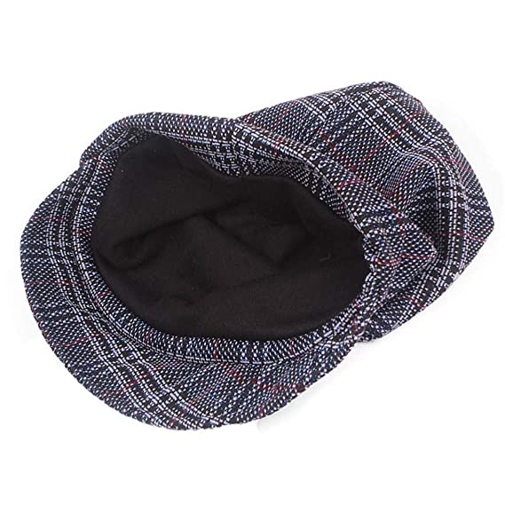 becdc2340cf Amazon.com  Qhome Checker Beret Hats Slouchy Baggy Beanie Cap Visor Beret  Women Cap Bonia Boys Girls Casual Army Visor Hats  Clothing