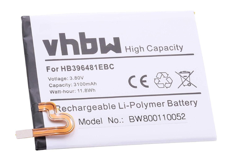 vhbw Li-Polymer batería 3100mAh (3.8V) para móvil Smartphone ...