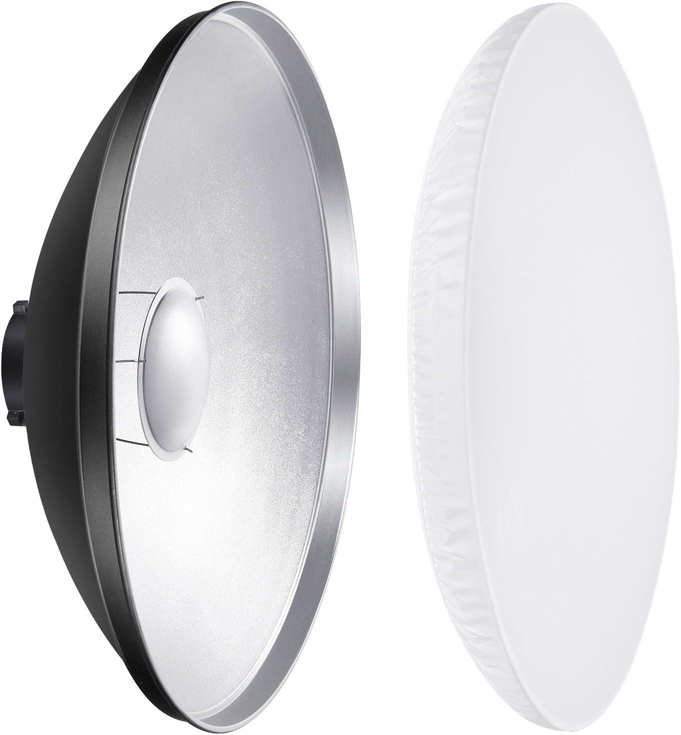Neewer 41cm Aluminium Standard Reflektor Mit Weiß Kamera