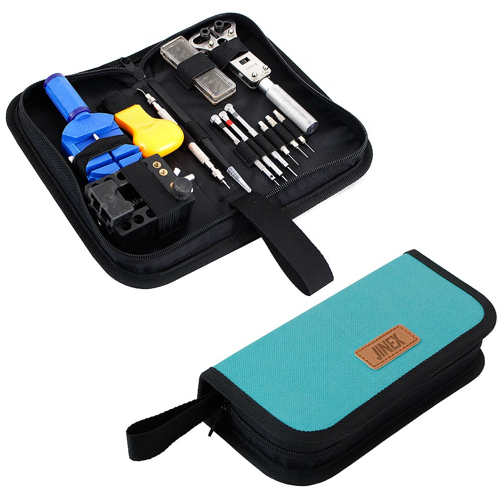 JINEX LX-2 Watch Repair Kit Professional Spring Bar Tool Set, Watch Band Link Pin Tool Set with Carrying Case