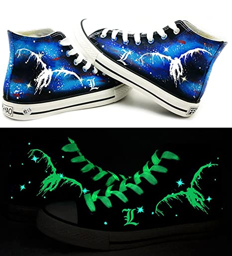 Death Note Ryuuku Cosplay Shoes Canvas Shoes Sneakers Luminous