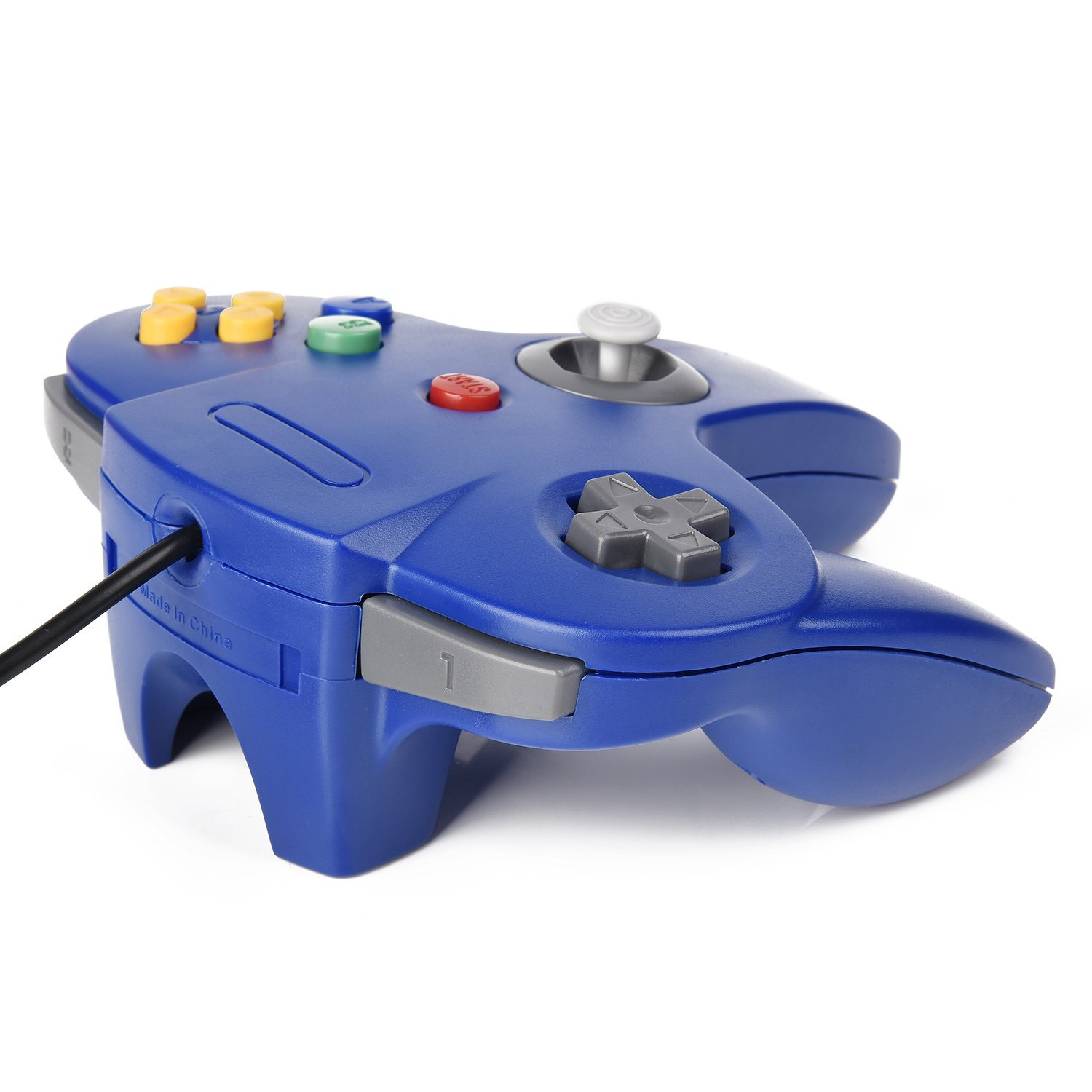 N64 Bit USB Wired Game Stick Joy pad Controller for Windows PC MAC Linux Raspberry Pi 3 Genesis Higan Classic N64 Controller Gray iNNEXT N64 Wired USB PC Game pad Joystick