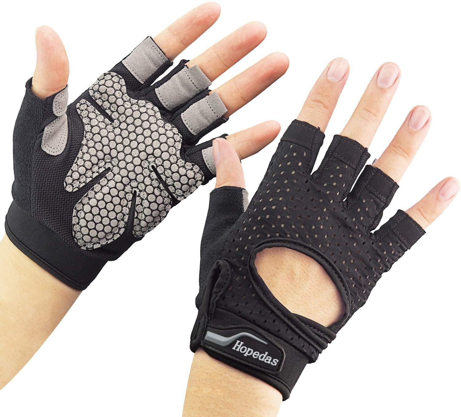 show original title Details about  /1 Pair Training Gloves Fitness Sports Palm Grip Pads Protector Free Size