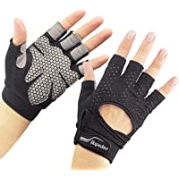 PWGN Workout Gloves Weight Lifting Gloves Palm Support Protection for Men Women, Exercise Gloves Sports for Training…