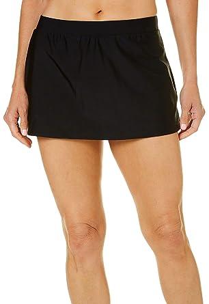 fa49dd139d212 Amazon.com: Beach Diva Womens Solid Elastic Waist Swim Skirt: Clothing