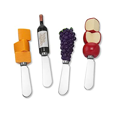 Wine Things Red Wine Tasting Resin Cheese Spreaders Set of 4
