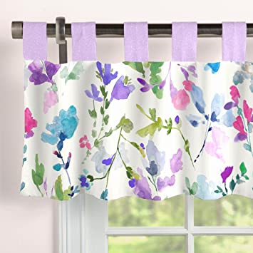 Carousel Designs Wildflower Garden Window Valance Tab Top