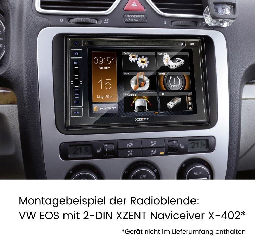 2009-2014 6R Auto Radioblende Einbauset//Rahmen+Kabel für VW Polo 5