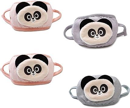 Paquete de 4 máscaras de algodón con diseño de Oso Panda para Hombre y Mujer (Color al Azar): Amazon.es: Bricolaje y herramientas