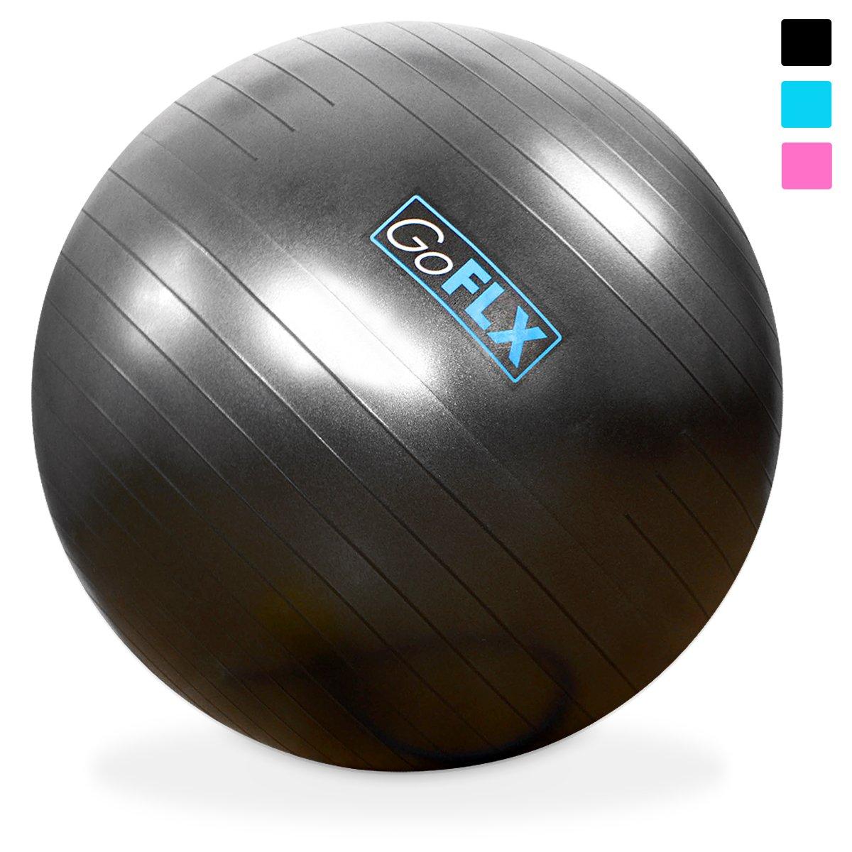 好評 GoFLX バランスボール 65cm ポンプ付 - ヨガ ポンプ付 CM|ブラック B00S6LZM9O、エクササイズに最適。耐荷重200kgまで対応のエクササイズボール(ブルー) B00S6LZM9O ブラック 75 CM 75 CM|ブラック, リトルトランク:0c22b24c --- arianechie.dominiotemporario.com