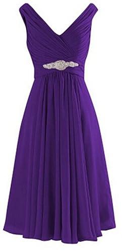 VaniaDress Women V-neck Chiffon Short Bridesmaid Dress Prom Party Gowns V194LF