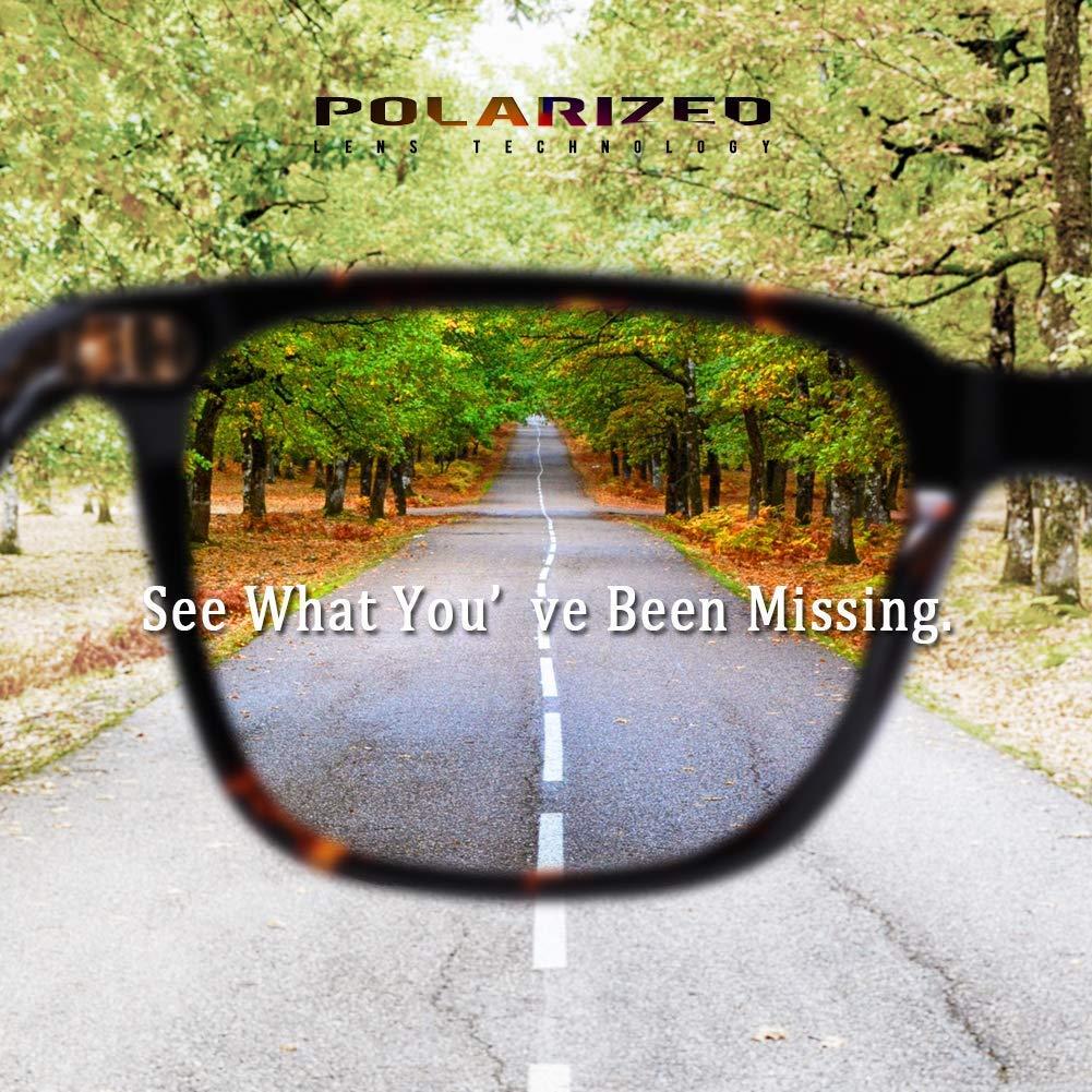 Carfia Polarisierte Damen Sonnenbrille UV400 Schutz Outdoor Brille f/ür Autofahren Angeln Freizeit Acetat Rahmen