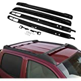 Mophorn Roof Rack Cross Bars Fit For 2005 - 2015 Toyota Tacoma Double Cab Aluminum Baggage Side Rails Bars Crossbars OEM Style 150Lbs Capacity Load Luggage Cargo Roof Cross Bars (Black)