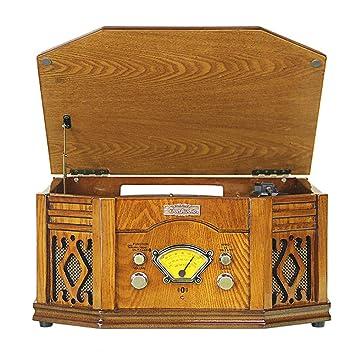 ZXCV Gramófono, Tocadiscos Grabador de Vinilo 33/45/78 RPM ...