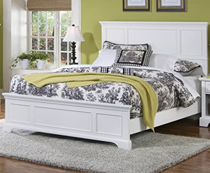 Amazon.com: Home Styles 5530-500 Naples Queen Bed, White Finish ...