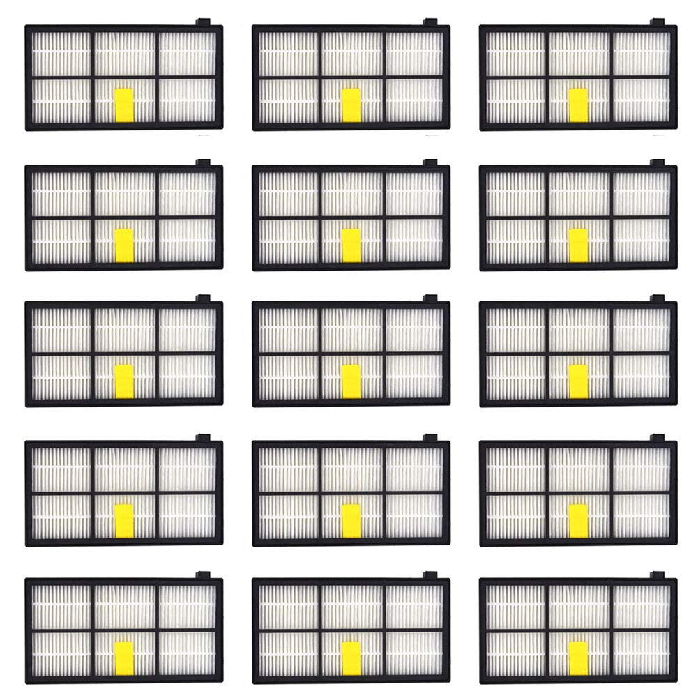 Neutop 15 pcs HEPA Filters Replacement for iRobot Roomba 860 870 877 880 890 805 960 980 Parts Accessories 800 900 Series Robotic Vacuum Cleaners