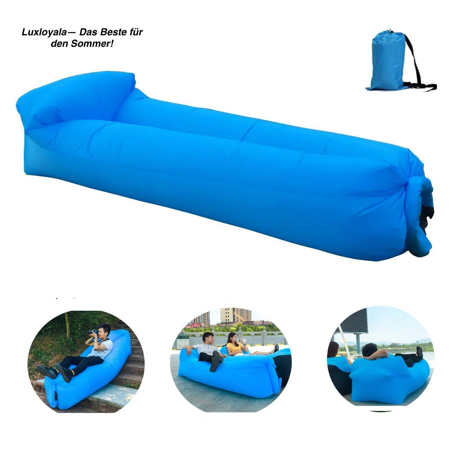 Luxloyala Sofá Inflable, Air Coach Sofá Inflable Impermeable de Alta Calidad Superior, sofá del Aire, Aire ocioso, sofá del Aire (Azul): Amazon.es: Deportes ...