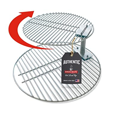 SmokeWare - Grate Stacker & Grill Combo for Large Big Green Egg