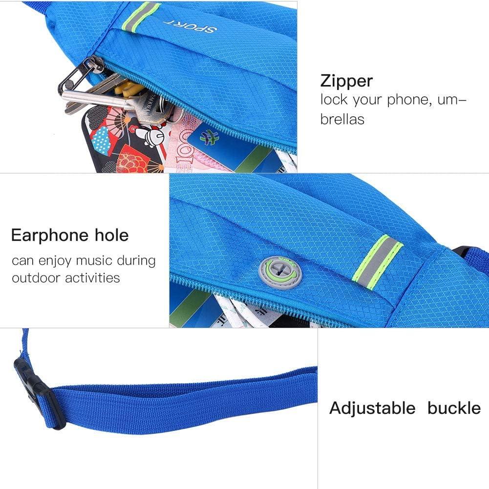 Wallfire sac de taille sport de plein air course /à pied ceinture ceinture pack banane unisexe mode d/écontract/ée