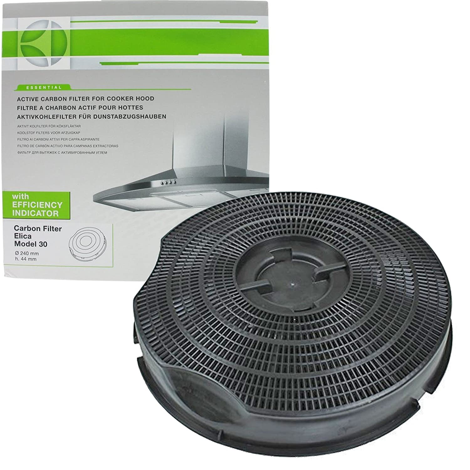 Genuine SMEG KSEG50 Type 30 Charcoal Carbon Cooker Hood Vent Filter (235 mm x 46 mm) Electrolux